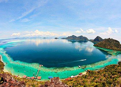 Sabah Bohey Dulang Island på Borneo