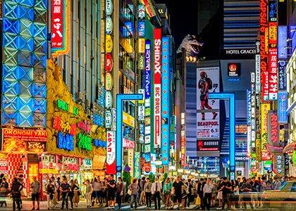 Rejser til Tokyo i Japan