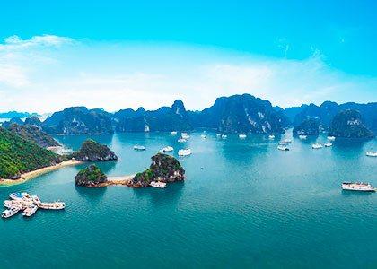Rejser til Ha Long Bay